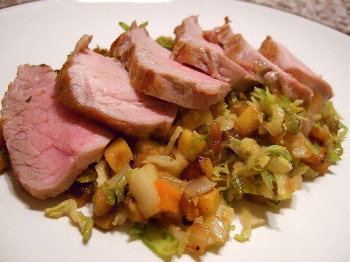 Еда приготовленная на сковороде