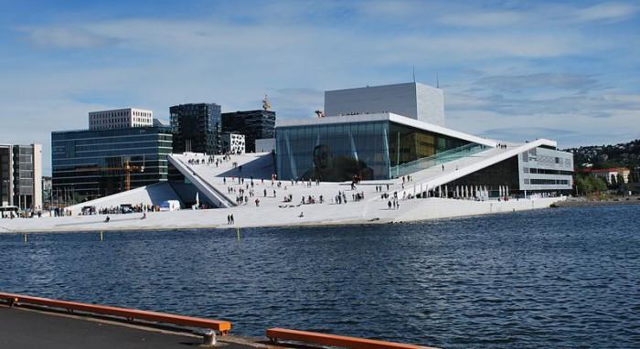 Оперный театр в Осло, фото Helge Høifødt