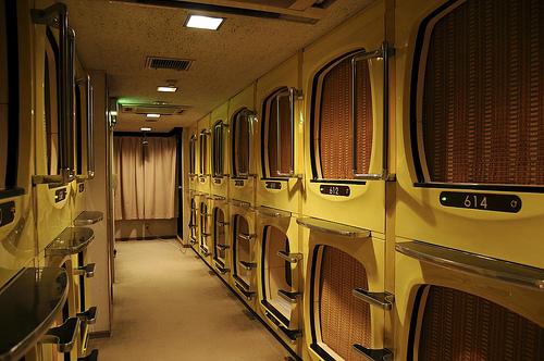Отель-капсула в Японии