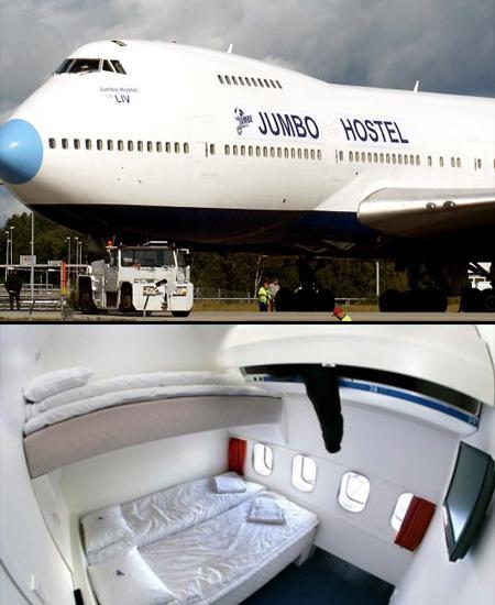 Отель-самолет в Швейцарии