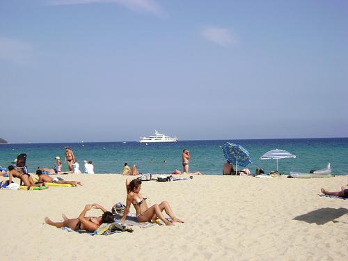 Пляж Сен-Тропе, Франция