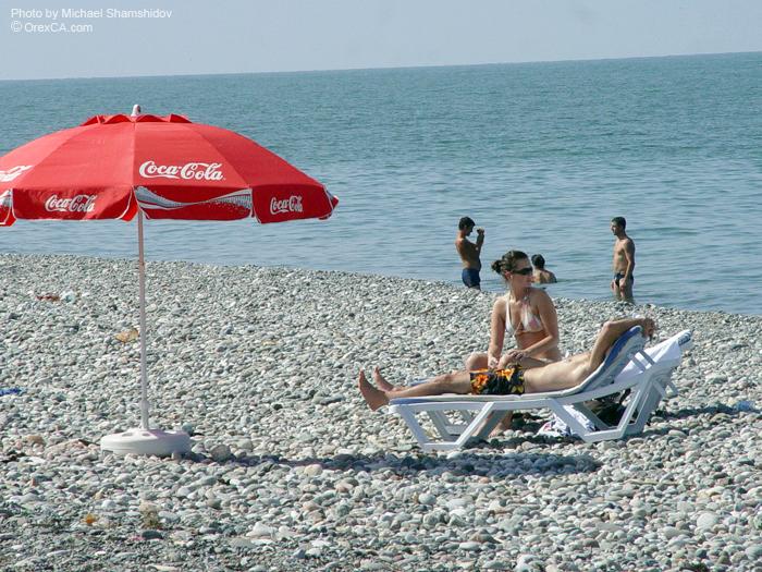 Пляж в Батуми, Грузия