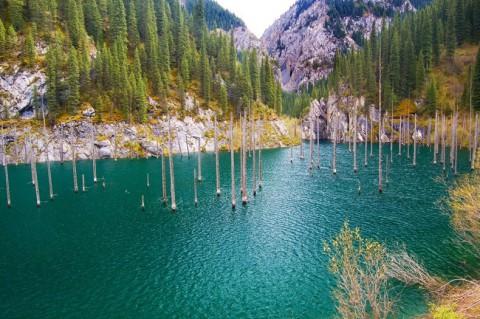 Озеро Каины, Казахстан