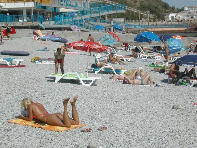 Сексуальный пляж крым